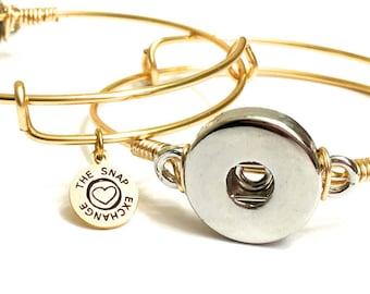 Adjustable Snap Bangle Bracelet