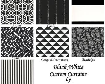 black curtains custom curtains drapery panels bedroom drapery custom panels black white curtains you choose your