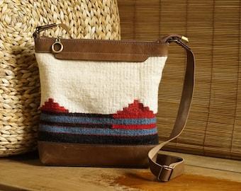 Ethno Kilim leather bag