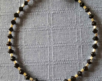 Pretty Black Beaded Bracelet25