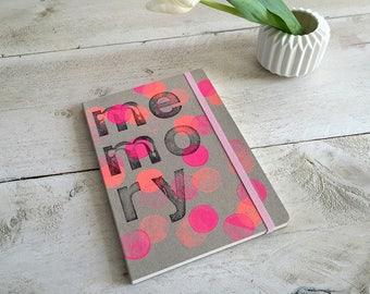 Notebook sketchbook, memory, lined DIN A5