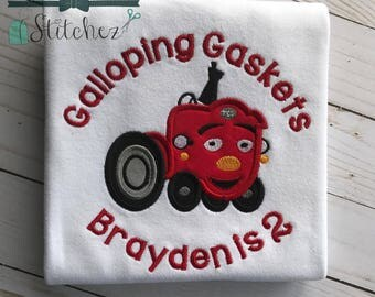 My First Tractor Applique Design ~ Cartoon Tractor ~ Instant Download