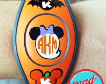 Halloween Monograms Villains Silhouettes Magic Band Decals