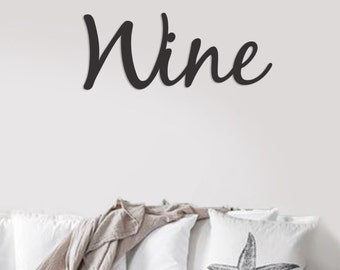 WINE word art cutout/Wine sign, Wood word sign, 3d sign, wine decor, bar sign, Wood wine sign