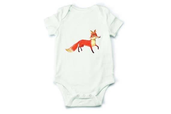 Baby bodysuit fox baby bodysuit fox bodysuit baby