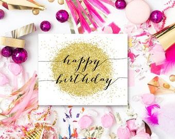 Happy Birthday Sign, Birthday Sign, Birthday Decoration, Printable Birthday Sign, Happy Birthday, Birthday PDF, Birthday Party, GLTR1