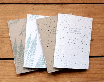 Pocket Notebooks. Handmade, ± 10 x 14 cm. Nice present. Easily fits in your handbag.