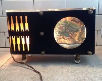 Vintage TV Lamp Bilt Rite Fish Tank Planter Light, Retro Mid Century Table Lamp Aquarium
