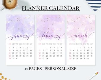 50% OFF sale, Planner calendar, printable calendar, 2017 calendar, wall calendar 2017, planner dividers, monthly planner, monthly calendar