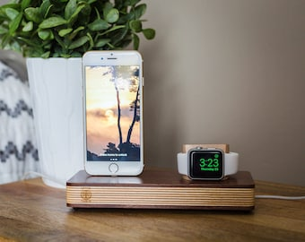 Apple Watch Stand, Iphone Docking Station, Apple Watch Docking Station, Iphone Dock, Iphone Docking Charging Stand, Wooden Apple Watch stand
