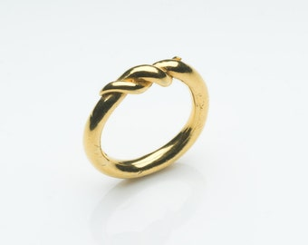Gold plated stering silver ring, simple, elegant ring by Naomi Tracz Jewellery