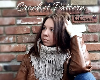 Snood Cowl - PATTERN ONLY- Crochet - Size Toddler, Child, Adult