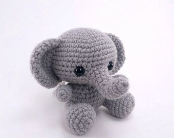 PATTERN: Crochet elephant pattern - amigurumi elephant pattern - jungle animal - stuffed toy animal tutorial - PDF crochet pattern