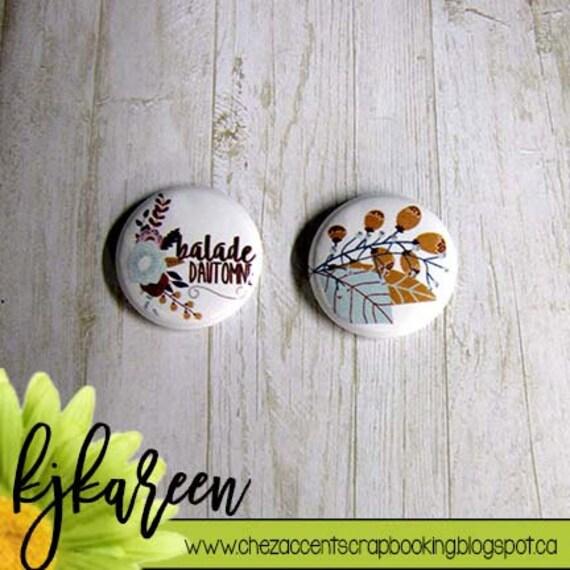 """Badge 1"""" - Cadeau d'octobre """"Balade d'automne"""""""