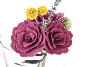 Felt Flower Bouquet - Spring Wedding Bouquet - Bridal Bouquet - Spring Home Decor