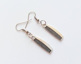 COMB Earrings Comb Jewelry Comb Gift Comb Pendant Comb Charm Hairdresser Earrings Hairdresser Jewelry Hairdresser Gift Hair Maker Earrings
