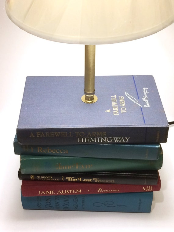 Custom Book Lamp Table Lamp Stacked Book Lamp Lamp Made