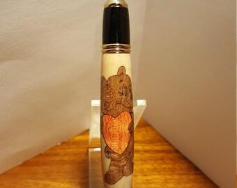 Valentine Bear Twist Pen