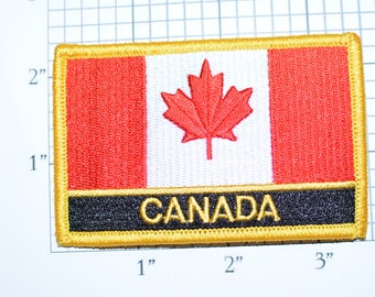 CANADA Flag Iron-On Patch Jacket Patch Travel Patch Trip Souvenir Memorabilia Vest Patch Jeans Patch Backpack Patch Vacation Holiday e20x