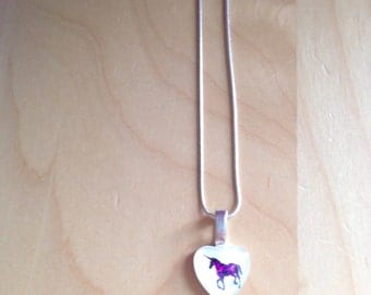 NECKLACE - Slight defect / image UN-centered Unicorn tattoo by heart of exception