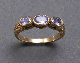 Georgian 14 K gold and amethyst ring size 6.5