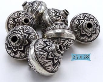 Sterling Silver Handmade Focal Bead--1 Pc | 35-PK130-1