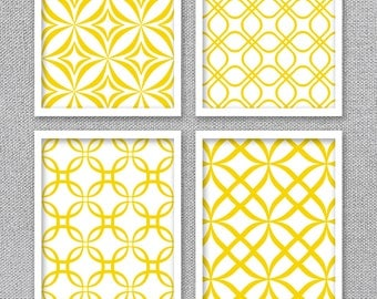 Yellow Wall Art Yellow Wall Art  Etsy