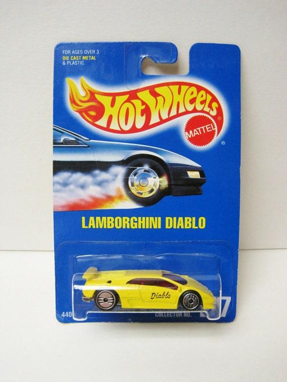 Hot Wheels Lamborghini Diablo Yellow 227 Mattel Die Cast Car