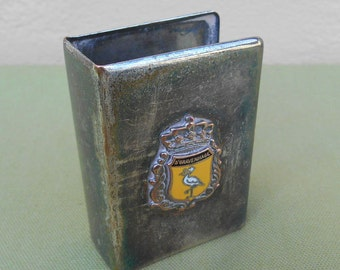 Trench Art, Match Box Holder, Trench Art Match Box Holder, Vintage Vesta Holder