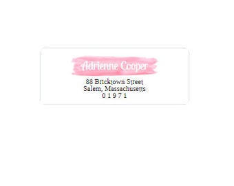 Return Address Labels - Pink and Black - Return Address Stickers - Personalized - Custom
