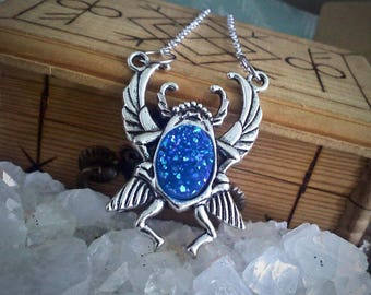 Midnight Beetle Necklace
