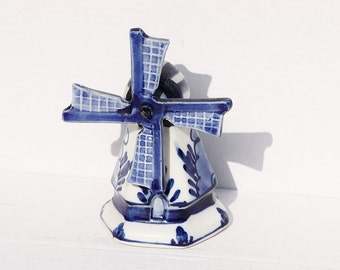 Blue Windmill, Delft Windmill, Royal Delft, Miniature Windmill, Holland Windmill, Dutch Porcelain