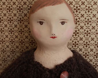 "Doll doll retro, vintage, ""Colette""."