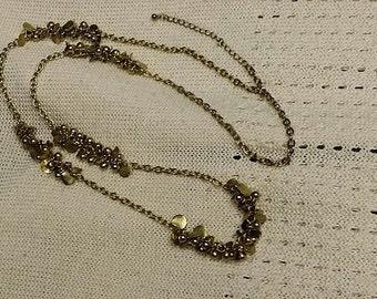 Vintage Brassy Long Necklace