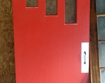 Sliding Barn Door Midcentury Modern Red Sale 30% off