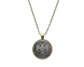 Ruble jewelry Coin pendant Money necklace
