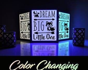Dream Big Little One, Dream Big, Lightbox, Nightlight, Home and Living, Nursery Decor, Kids Nightlight, Baby Nursery, Lighting, Lamp