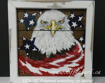 4th July,USA,America,america flag,american flag wall art,patriotic decor,Eagle Flag decor,america flag wood,independence day decor,eagle art