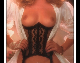 "Mature Playboy March 1986 : Playmate Centerfold Kim Morris Gatefold 3 Page Spread Photo Wall Art Decor 11"" x 23"""
