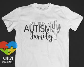 Autism Family - Cactus Theme - Multiple Options - Awareness Acceptance
