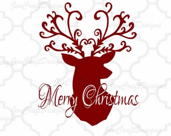 Christmas Reindeer SVG,EPS Png DXF,digital download files for Silhouette Cricut Ds, vector Clip Art graphics Vinyl Cutting Machines