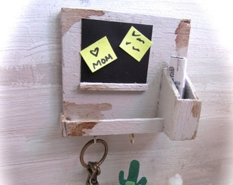 Miniature Key holder and blackboard- scale 1:12- dollhouses miniatures