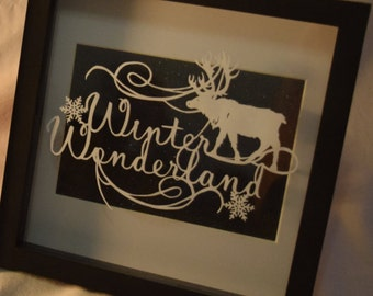 Handcut 'Winter wonderland' papercut