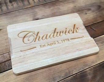 FREE UK DELIVERY - Personalised Classic Design Wooden Chopping Board - Ideal House Warming & Birthday Gift