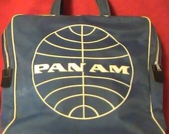 Vintage Pan Am Vinyl Tote