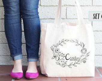 Set of 3 Personalized Tote Bags - Bridesmaid Totes, Bridesmaid Gifts, Bridal Party Tote Bags, Wedding Gifts, Wedding Tote Bag
