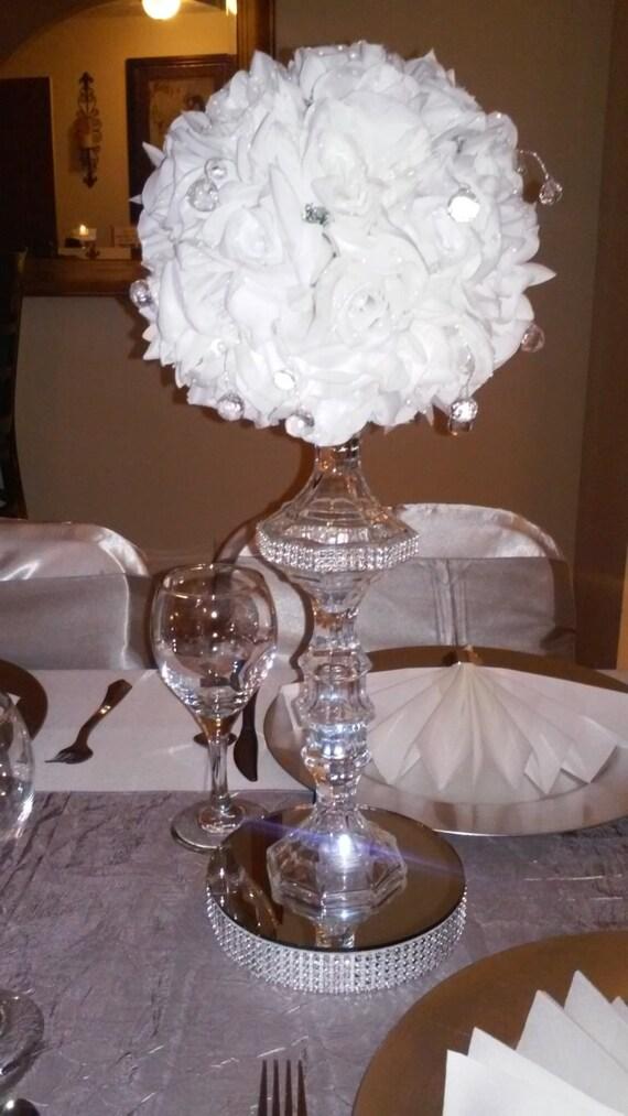 Crystal flower ball centerpiece