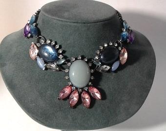 Rhinestone  Necklace Vintage Rhine Stone Necklace