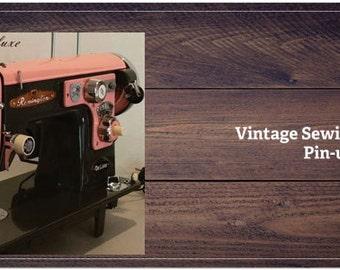 PRICE REDUCED AGAIN! Vintage Sewing Machine Desk Calendar