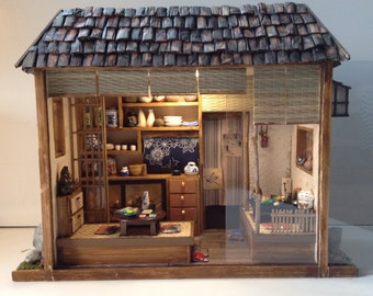 Simon j japanese restrauant miniature roombox